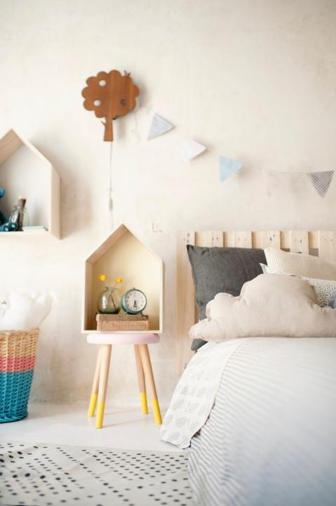 deco kids estilo nordico niños peluches cojines banderolas hecho a mano decoraturutina madera