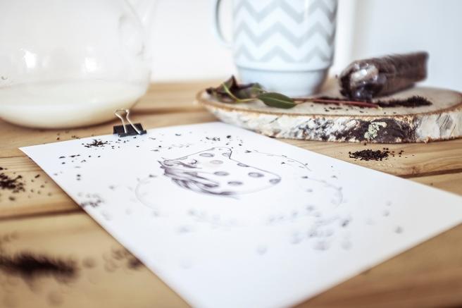 mi caballito ilustracion a lapiz sobre papel raquel carrero decoracion nordica detalle