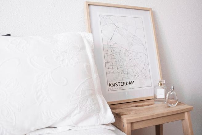 amsterdam detalle mapa diseño estilo nordico blanco y negro lineas simples vias principales laminas decorativa pipolart shop pipol-art