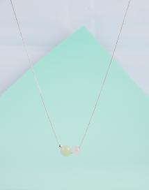 collar de plata, jaspe y cuarzo piedras semipreciosas minimalista collares complementos pipolart