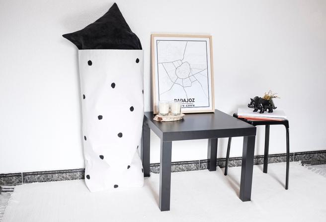 bolsas papel the paper bag le sac en papier pintada a mano mesa lack dots lunares estilo nordico almacenaje todas habitaciones pipolart shop