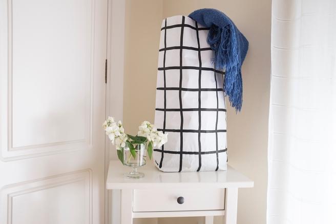 bolsas papel the paper bag le sac en papier pintada a mano rayas horizontales estilo nordico almacenaje todas habitaciones pipolart shop cuadros grandes malla