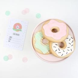 decoracion fiesta infantil descargables papeleria donut tematica color pastel invitaciones pipolart