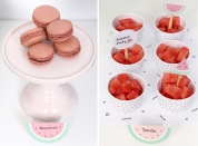 decoracion fiesta infantil descargables papeleria tematica pipolart sandia watermelon party macarons