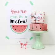 decoracion fiesta infantil descargables papeleria tematica pipolart sandia watermelon party print