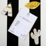 decoracion fiesta tematica infantil descargables papeleria little indian negro blanco amarillo pipolart lamina party pipolart invitacion