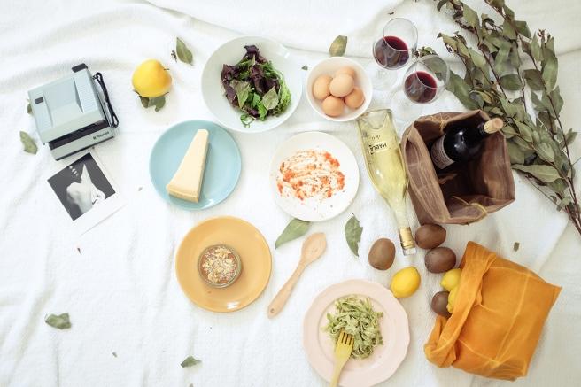 iconic paperbag waxed canvas bolsa papel americana almuerzo lunch iconica tela encerada impermeable cera pipolart amarillo mostaza picnic frutero bodegon