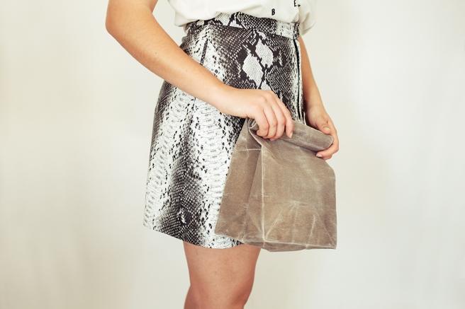 iconic paperbag waxed canvas bolsa papel americana almuerzo lunch iconica tela encerada impermeable cera pipolart gris clutch