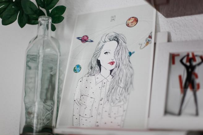 ilustracion cristina gomez fashion illustration pipolart pipol art la chica de los  planetas