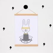 lamina personalizada print descargable a3 para lamina bolso tela o camiseta pipolart ilustracion super conejo