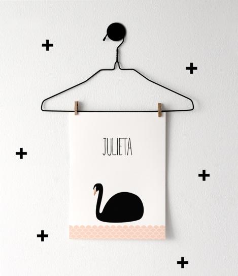 print descargable a3 para lamina bolso tela o camiseta pipolart ilustracion cisne