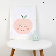 print descargable a3 para lamina bolso tela o camiseta pipolart manzanita ilustracion rosa