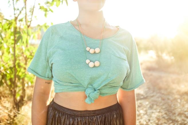 collar  hecho a mano cordon algodon regulable colores pastel fluor pipolart pipol-art   bolas madera grandes medianas