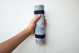 estuche enrollable tela cosido a mano hecho a mano manta maquillaje transportar brochas neceser pipolart pipol art estampado flamencos lifestyle