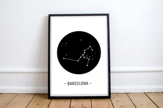 mapa-monumentos-barcelona-constelacion-minimal-blanco-y-negro-lamina-a3-pipolart-pipol-art