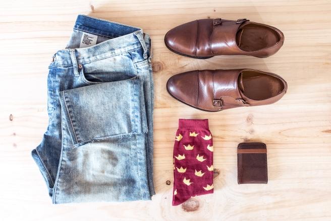 coronas-mostaza-granate-calcetines-estampados-print-socks-hechos-en-espana-pipolart-pipol-art-hombre