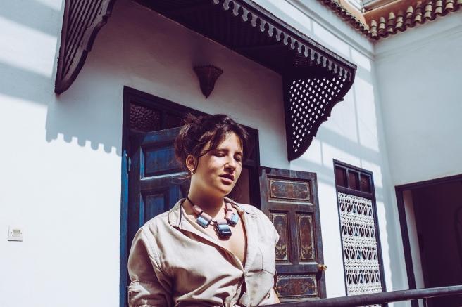 colgante collar bolas ceramicas hecho a mano hecho en españa pipolart pipol art artesania marruecos agadir