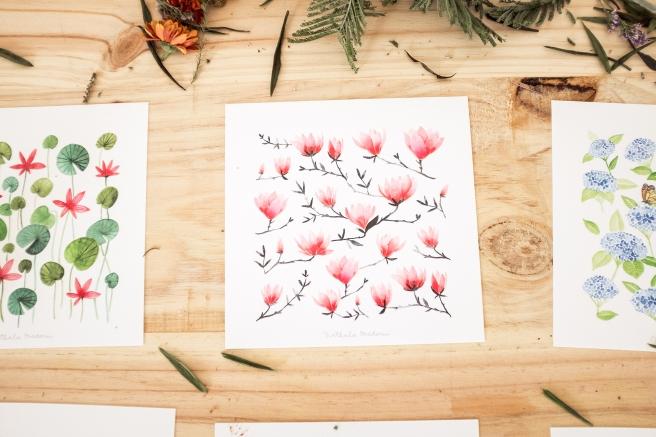 postales acuarela nathalie ouederni cherry blossom pipolart.jpg