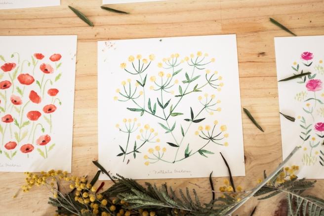 postales acuarela nathalie ouederni flores mimosas pipolart.jpg