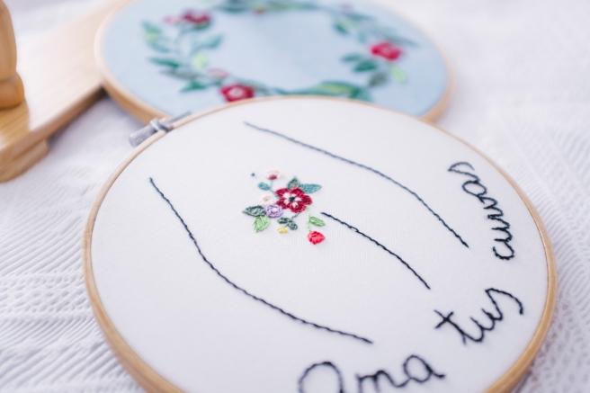 bastidores bordados pequeño mediano decorar pared flores pipolart hecho a mano ama tus curvas