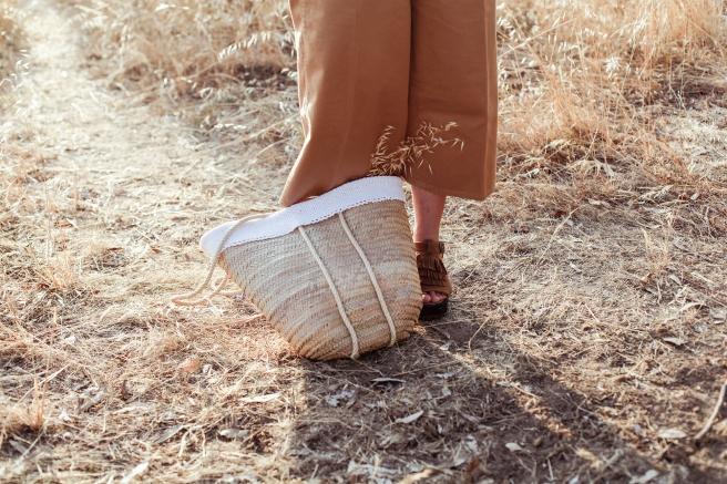 canasto cesta capazo cesto palma tamaño grande asa larga pipolart pipol art