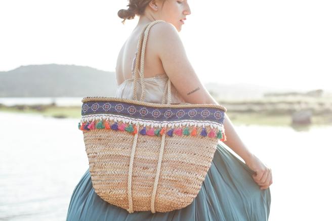canasto cesta cesto capazo artesania española hecho a mano cosido a mano