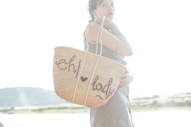 cesto canasta cesta de palma paja artesania eh lady bordado a mano pipolart