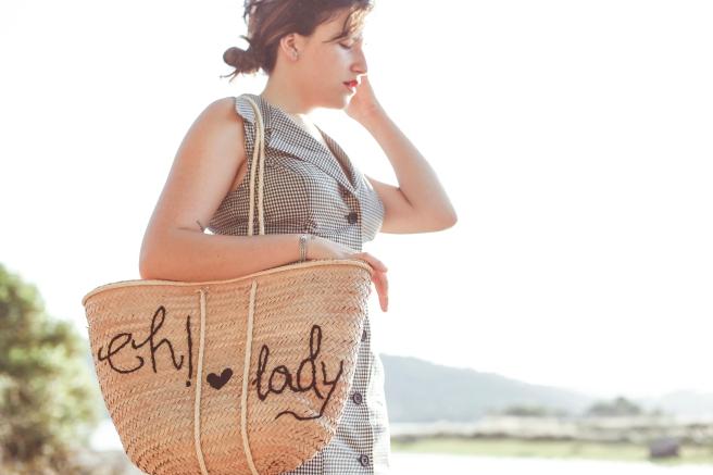 cesto canasta cesta de palma paja artesania eh lady bordado a mano