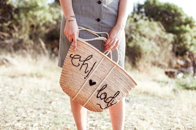 cesto canasta cesta de palma paja artesania