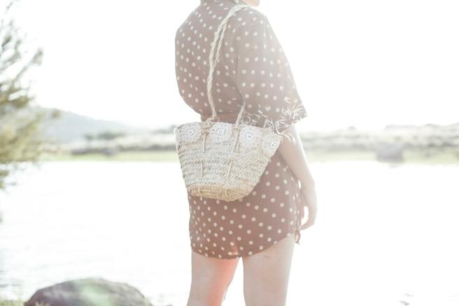 cesto cesta canasto capazo palma tamaño pequeño asa larga pipolart artesania flores de ganchillo