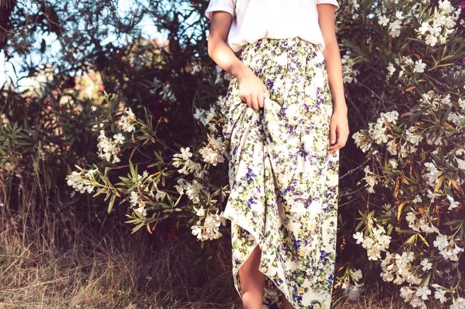 faldas largas flores hecho a mano pipolart pipol art shop
