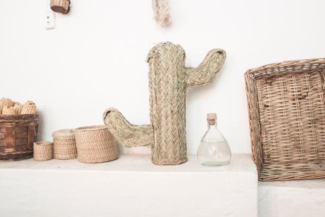 cactus natural mimbre palma hecho a mano artesania española decoracion pipolart