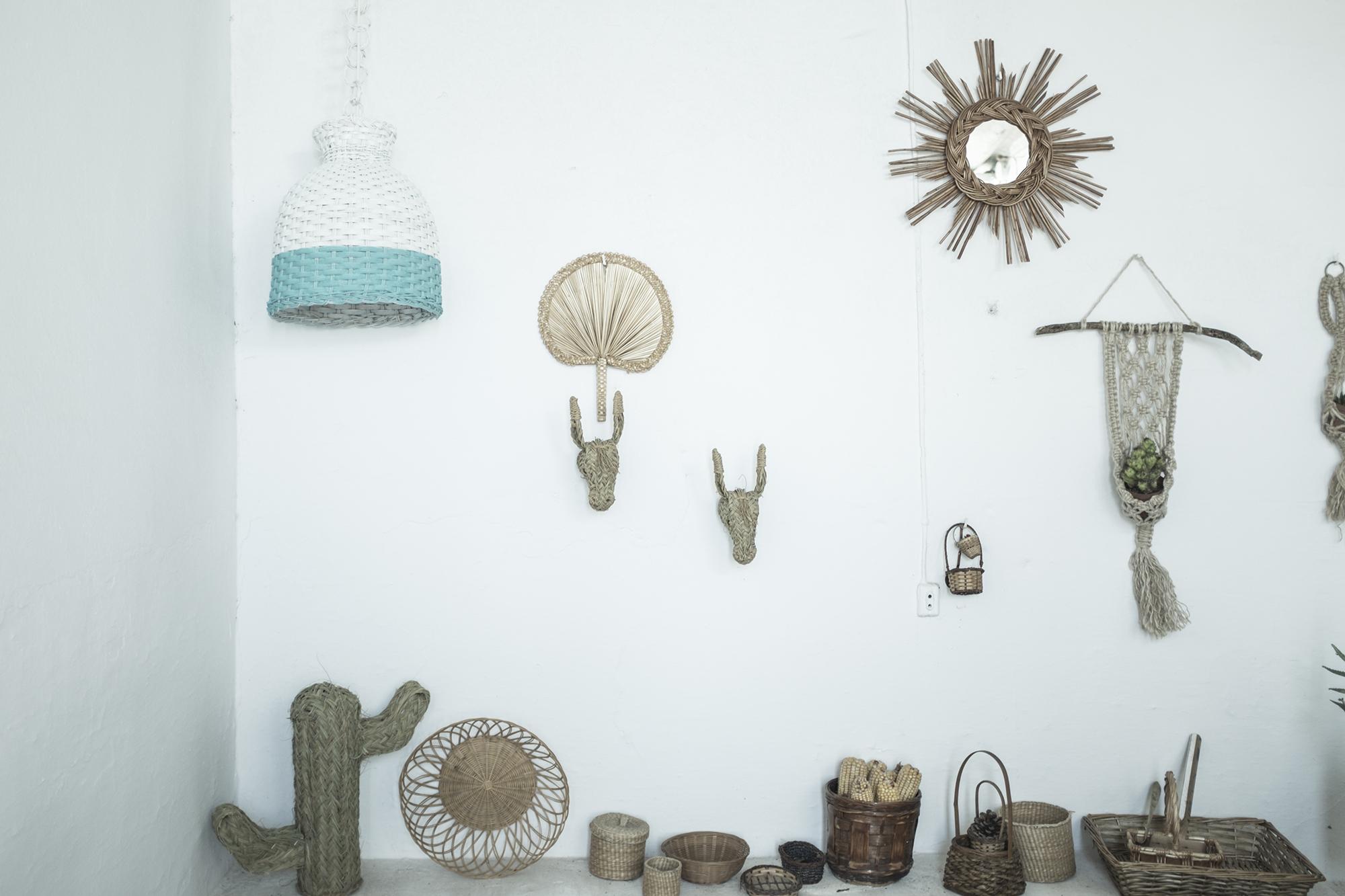 pai pai lámpara espejo mimble cactus palma colgadores macramé pipolart